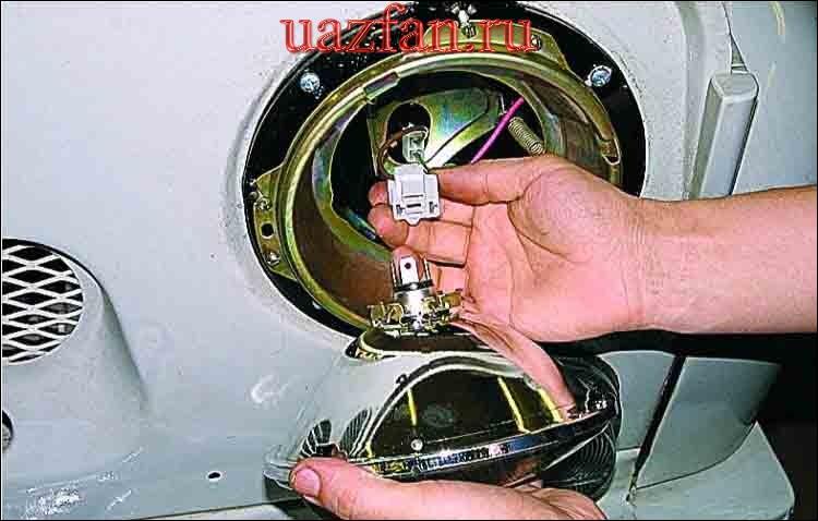 Замена лампы и оптического элемента