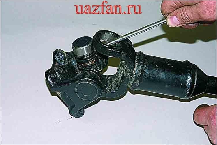 Разборка карданного шарнира