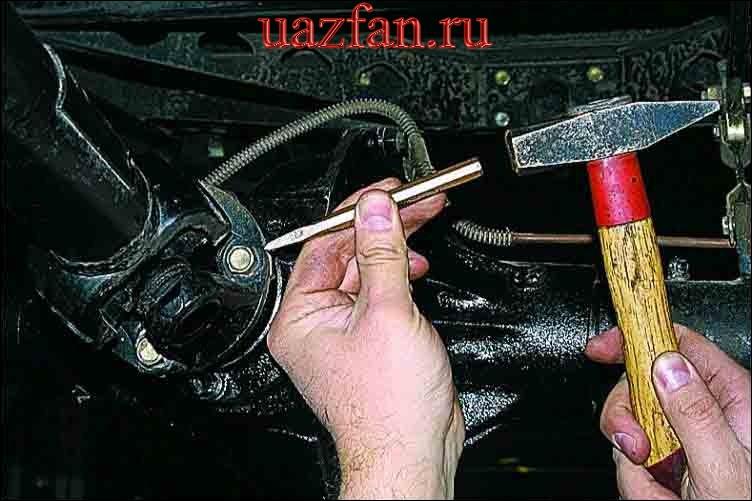 Снятие карданной передачи