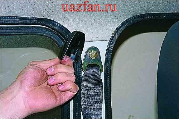 Снятие ремней безопасности