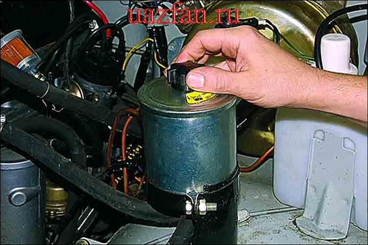 Замена рабочей жидкости и фильтра