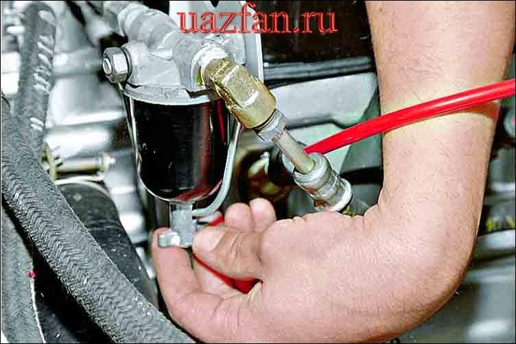 Замена фильтра тонкой очистки топлива