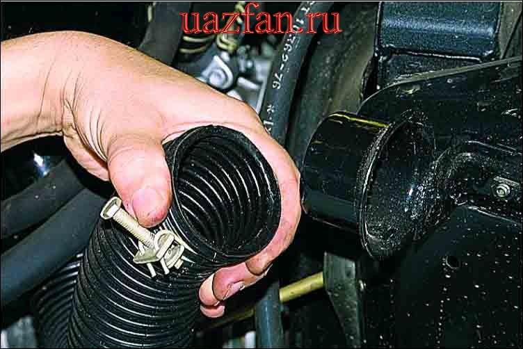 Снятие корпуса воздушного фильтра