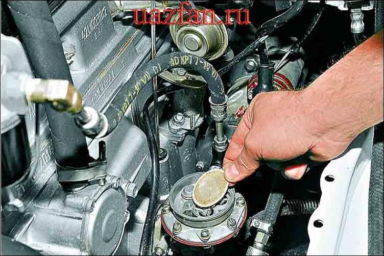 Снятие сетчатого фильтра топливного насоса