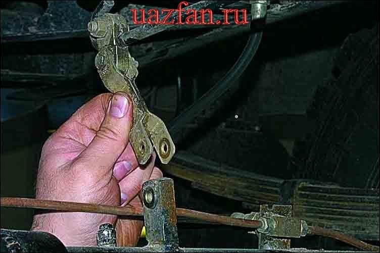 Снятие педального узла