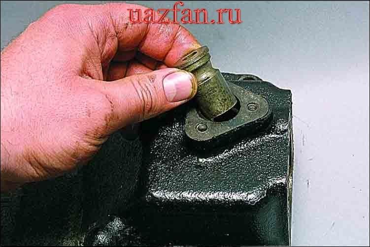 Разборка механизма переключения передач
