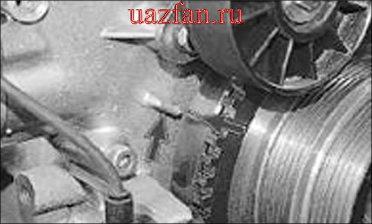 Установка поршня первого цилиндра в положение ВМТ такта сжатия