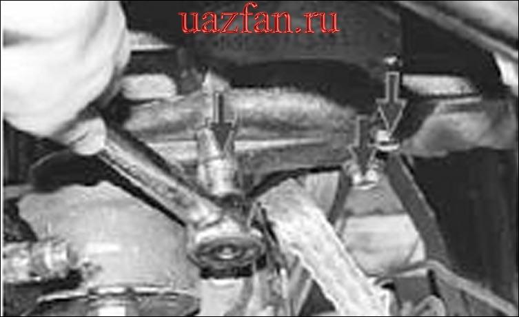 Замена передних опор подвески силового агрегата