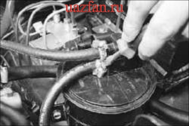 Снятие и установка клапана продувки дсорбера